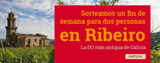 Sorteamos un fin de semana para dos personas en Ribeiro